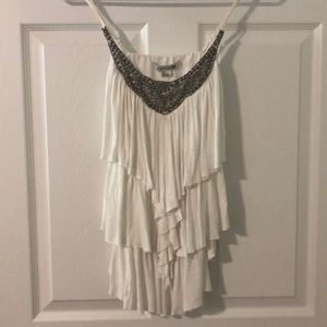 Cream and Metal Party Tank